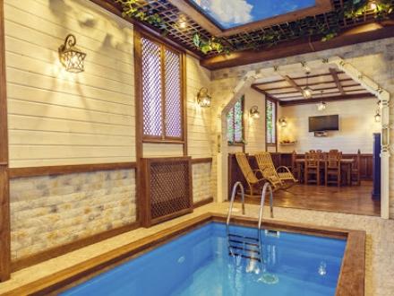 Сауна с бассейном для семьи с детьми