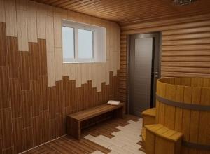 Одноэтажный дом из бруса с сауной